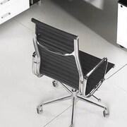 Manhattan Comfort Metro AL Mid-Back Desk Chair; Black