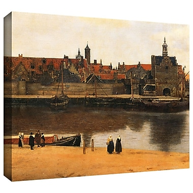 ArtWall 'View of Delft' by Johannes Vermeer Painting Print on Wrapped Canvas; 26'' H x 32'' W