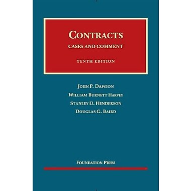 Contracts: Cases and Comment, 10th Edition (English and English Edition), New Book (9781609302115)
