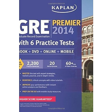 Kaplan GRE Premier 2014 with 6 Practice Tests: book + online + DVD + mobile, New Book (978160(9789367)