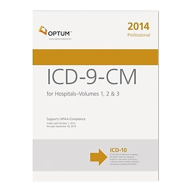 ICD-9-CM Professional for Hospitals, Volumes 1, 2 & 3 2014 (Softbound), Used Book (9781622540105)