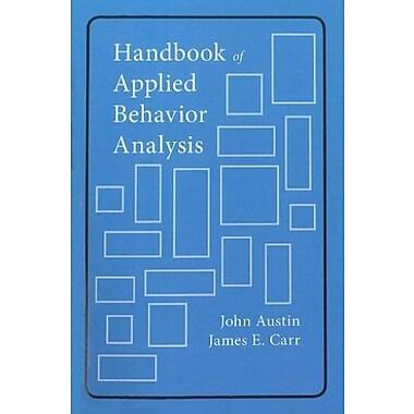 Handbook of Applied Behavior Analysis, New Book (9781878(978349)