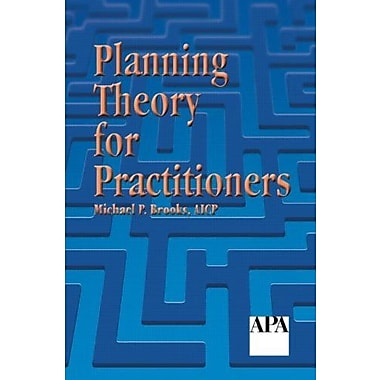 Planning Theory for Practitioners, Used Book (9781884829598)