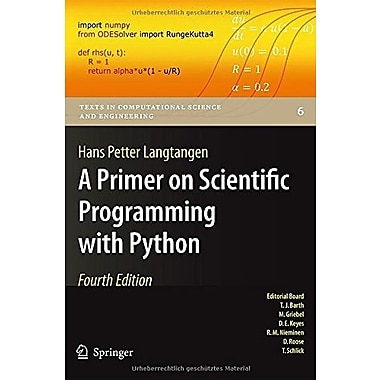 A Primer on Scientific Programming with Python (Texts in Computational Science and Engineering), New Book (9783642549588)