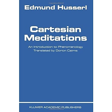 Cartesian Meditations: An Introduction to Phenomenology, New Book (9789024700684)
