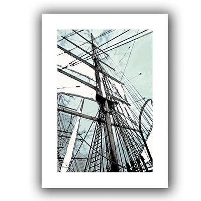 ArtWall 'Sailing on Star of India II' by Linda Parker Photographic Print on Canvas; 16'' H x 22'' W