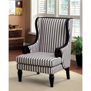 Hokku Designs Mortimer Wood Trim Wing back Chair