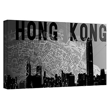 ArtWall 'Hong Kong' by Art Sandcraft Graphic Art on Wrapped Canvas; 24'' H x 48'' W