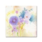 """Trademark Fine Art SG5708-C2424GG """"Mixed Blue Bouquet"""" by Sheila Golden 24"""" x 24"""" Frameless Art"""