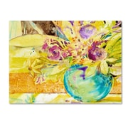 "Trademark Fine Art SG5695-C2432GG ""The Aqua Vase"" by Sheila Golden 24"" x 32"" Frameless Art"