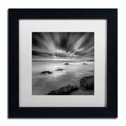 "Trademark Fine Art WAP0116-B1111MF ""Dusk"" by Mark Scheffer 11"" x 11"" Framed Art, White Matted"