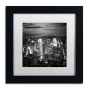 "Trademark Fine Art NP0013-B1111MF ""Times Square"" by Nina Papiorek 11"" x 11"" Framed Art, White Matted"