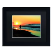 "Trademark Fine Art BC0148-B1114 ""Sunrise Walking"" by Beata Czyzowska Young 11"" x 14"" Framed Art"