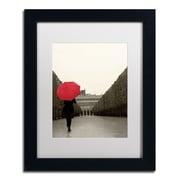 "Trademark Fine Art WAP0132-B1114MF ""Paris Stroll I Feet"" by Sue Schlabach 14"" x 11"" Framed Art, White Matted"