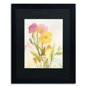 "Trademark Fine Art SG5714-B1620 ""Wildflowers Against the Sky"" by Sheila Golden 20"" x 16"" Framed Art"