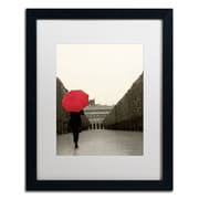 "Trademark Fine Art WAP0132-B1620MF ""Paris Stroll I Feet"" by Sue Schlabach 20"" x 16"" Framed Art, White Matted"