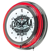 "Trademark Global Coca-Cola Brazil COKE-1400-BZ1 14"" White Neon Clock, Vintage"