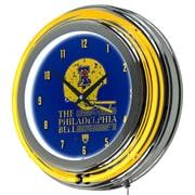 "Trademark Global VAF VAF1400-PB 14.5"" Blue Double Ring Neon Clock, Philadelphia Bell"