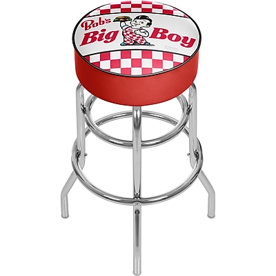 Trademark Global Bobs Big Boy 31'' Novelty Swiveling Base Padded Bar Stool, Checkered (886511587625)