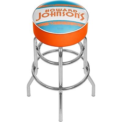 Trademark Global Howard Johnson 31'' Modern Swiveling Base Padded Bar Stool, Vintage (886511587663)