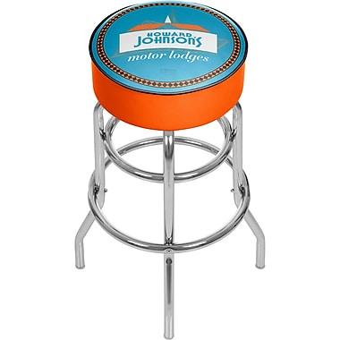 Trademark Global Howard Johnson 31'' Modern Swiveling Base Padded Bar Stool, Watermark (886511587670)