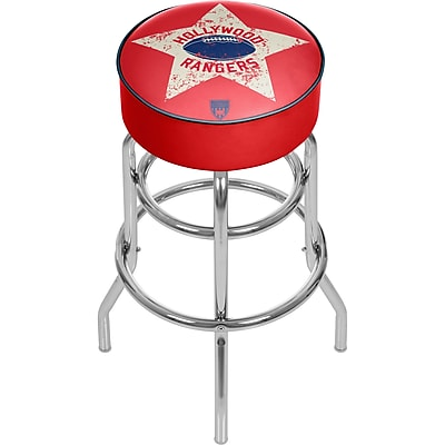 Trademark Global VAF VAF1000-HR Steel Padded Swivel Bar Stool, Hollywood Rangers