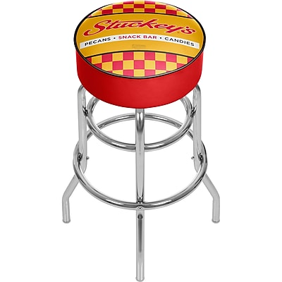 Trademark Global Stuckeys 31'' Modern Swiveling Base Padded Bar Stool, Checkered (886511587687)