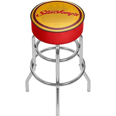 Trademark Global Stuckeys AR1000-STUC-W Padded Swivel Bar Stool, Watermark