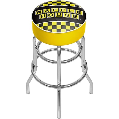 Trademark Global Waffle House AR1000-WAFF-C Padded Swivel Bar Stool, Checkered