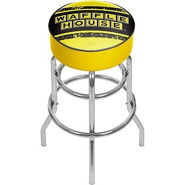 Trademark Global Waffle House 31'' Modern Swiveling Base Padded Bar Stool, Vintage (886511587724)