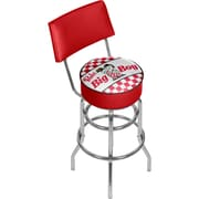 Trademark Global Bobs Big Boy AR1100-BOB Steel Padded Swivel Bar Stool
