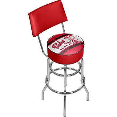 Trademark Global Big Boy 41.75'' Modern Swiveling Base Padded Bar Stool, Vintage (886511587755)
