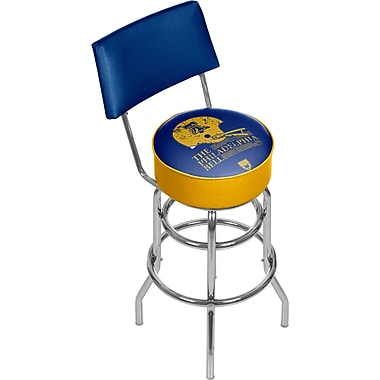 Trademark Global VAF VAF1100-PB Steel Padded Swivel Bar Stool with Back, Philadelphia Bell