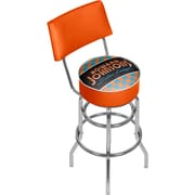 Trademark Global Howard Johnson AR1100-HOJO Steel Padded Swivel Bar Stool