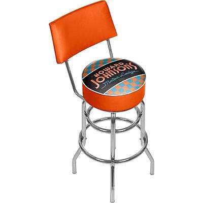 Trademark Global Howard Johnson 41.75'' Modern Swiveling Base Padded Bar Stool, Checkered (886511587762)