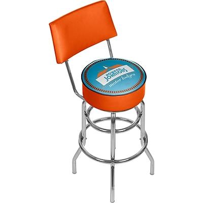 Trademark Global Howard Johnson 41.75'' Modern Swiveling Base Padded Bar Stool, Watermark (886511587786)
