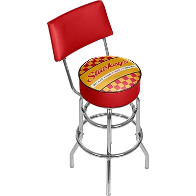 Trademark Global Stuckeys 41.75'' Modern Swiveling Base Padded Bar Stool, Checkered (886511587793)