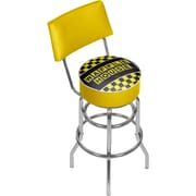 Trademark Global Waffle House AR1100-WAFF Steel Padded Swivel Bar Stool