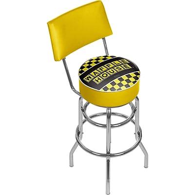 Trademark Global Waffle House AR1100-WAFF-C Steel Padded Swivel Bar Stool, Checkered
