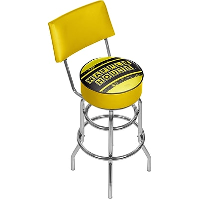 Trademark Global Waffle House 41.75'' Modern Swiveling Base Padded Bar Stool, Vintage (886511587830)
