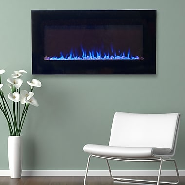 Northwest 80-2000A-36 LED Fire and Ice Electric Fireplace with Remote, 36