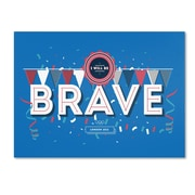 """Trademark Fine Art ALI0606-C1824GG """"Brave"""" by Kavan & Co 18"""" x 24"""" Frameless Art"""