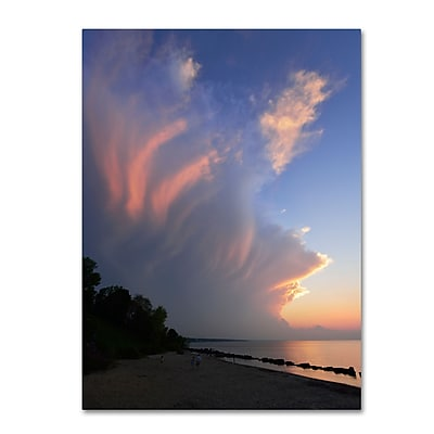 Trademark Fine Art KS0150-C2432GG Developing Sunset Storm