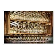 "Trademark Fine Art LBR0252-C1624GG ""Drinks on the House in Gold Tone"" by Lois Bryan 16"" x 24"" Frameless Art"