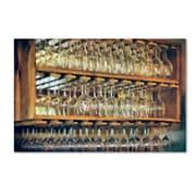 "Trademark Fine Art LBR0256-C1624GG ""Drinks on the House in Smoky Gold"" by Lois Bryan 16"" x 24"" Frameless Art"