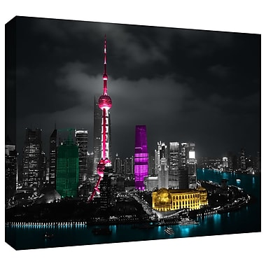 ArtWall 'Pudong' by Revolver Ocelot Photographic Print on Wrapped Canvas; 16'' H x 24'' W
