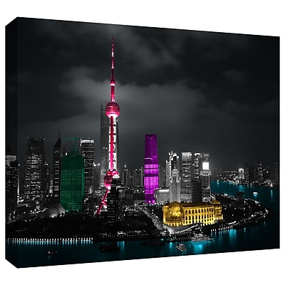 ArtWall 'Pudong' by Revolver Ocelot Photographic Print on Wrapped Canvas; 24'' H x 36'' W