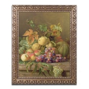 "Trademark Fine Art BL0330-G1620F ""A Fruit Still Life"" by Jacob Bogdany 20"" x 16"" Framed Art"