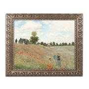 "Trademark Fine Art BL0082-G1620F ""Wild Poppies Near Argenteuil"" by Claude Monet 16"" x 20"" Framed Art"