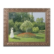 "Trademark Fine Art BL01175-G1620F ""Jeanne Marie Lecadre in the Garden"" by Claude Monet 16"" x 20"" Framed Art"